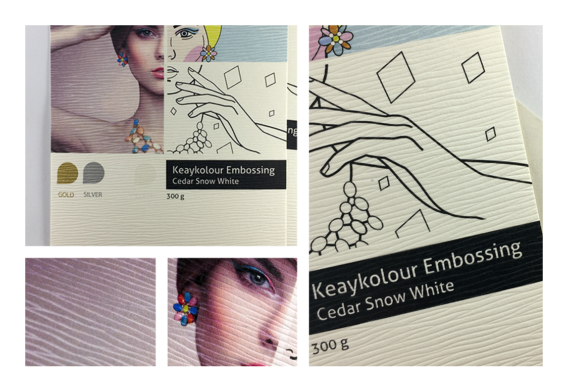 Keaykolour Embossing Cedar Snow White 300 g